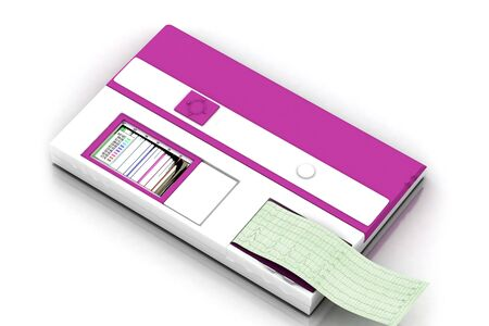 analyzer: 3d multi use  hematology analyzer in white background Stock Photo