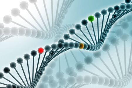 3d illustration of DNA in abstract background Stock Illustration - 7858872