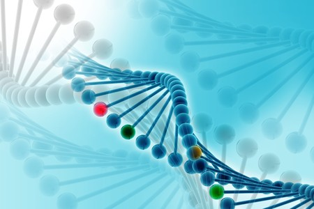 phosphate: 3d illustration of DNA in abstract background