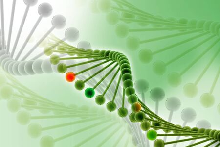 rn3d: 3d illustration of DNA in abstract background