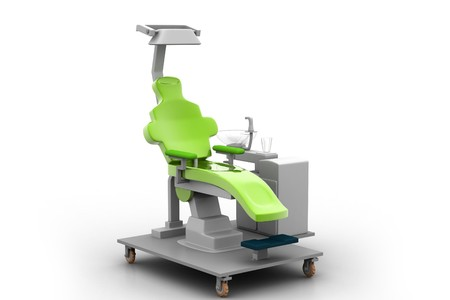 3d illustration dental chair in white background Stock Illustration - 7858618