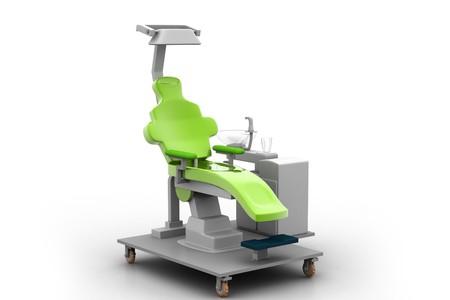 3d illustration dental chair in white background Stock Illustration - 7858618