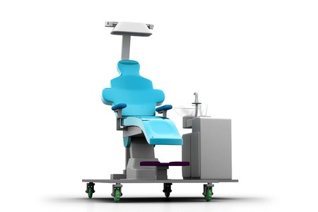 3d illustration dental chair in white background Stock Illustration - 7858587