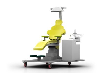 3d illustration dental chair in white background Stock Illustration - 7858624
