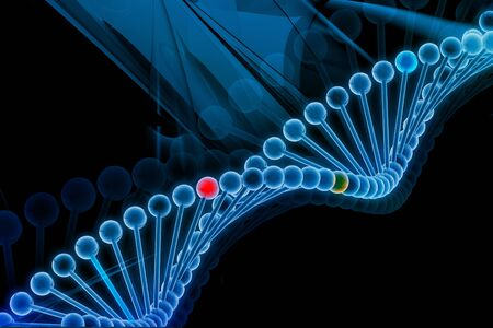 adenine: Digital illustration of DNA in abstract background