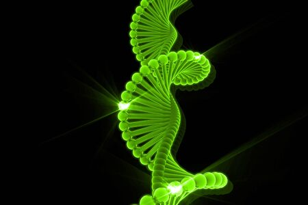 dna chain: 3d illustration of DNA in abstract background