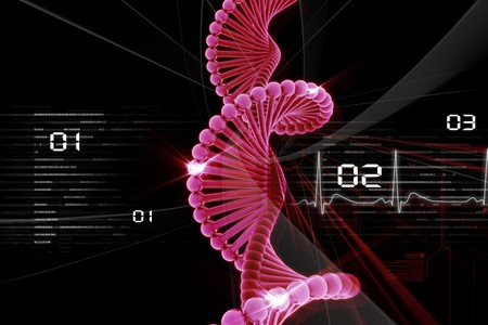 phosphate: Digital illustration of DNA in abstract background