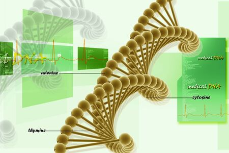 3d illustration of DNA in abstract background Stock Illustration - 7858895