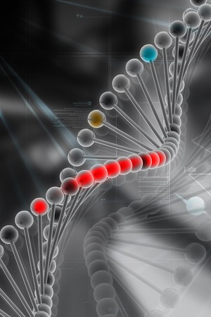 3d dna in color background Stock Photo - 7858875