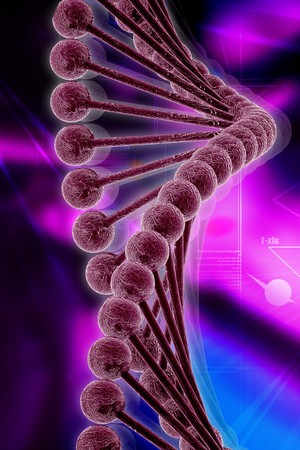 nucleic: 3d dna in color background
