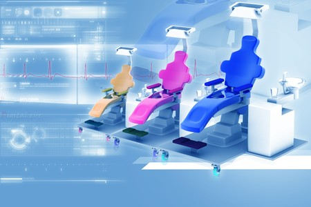 Dental chair in digital background photo