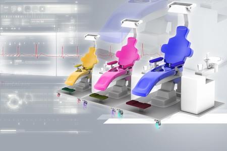 Dental chair in digital background  photo