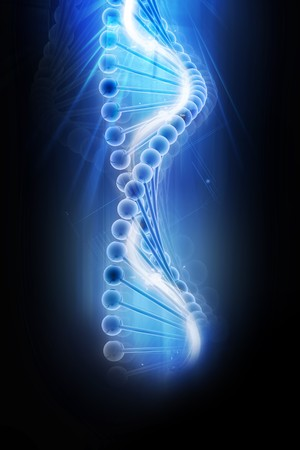 dna background: 3d dna in color background