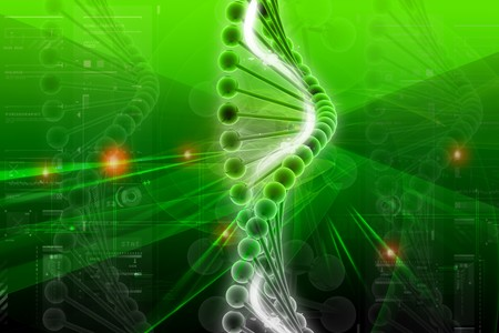 nucleotides: ADN 3D en fondo de color  Foto de archivo