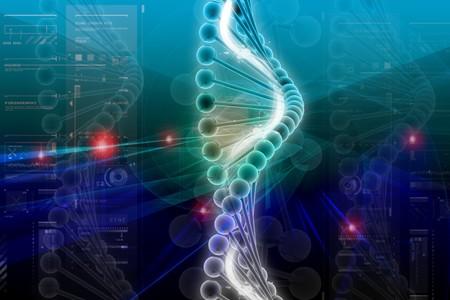 genom: 3d dna in color background
