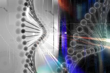 nucleotides: ADN 3D en dise�o digital  Foto de archivo