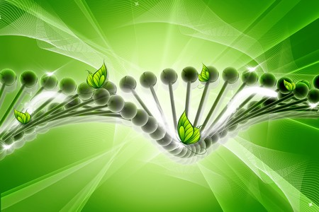chemically: Dna with butterfly. conceptual design