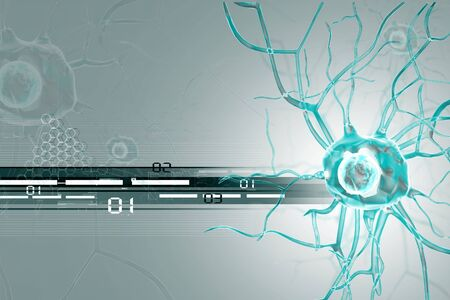 nerve cell: 3d Nerve cells  Stock Photo