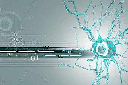 neuron cell body: 3d Nerve cells  Stock Photo