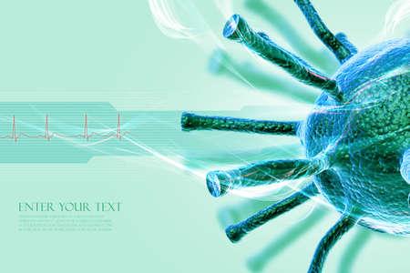 Conceptual virus illustration Stock Illustration - 8057749