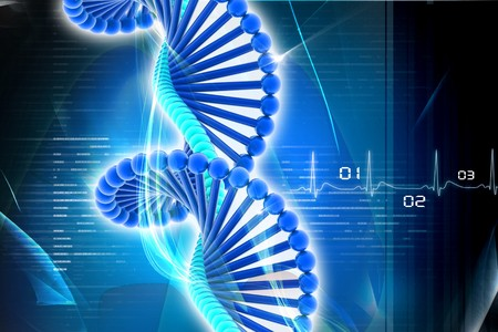 science background: DNA in digital design Stock Photo