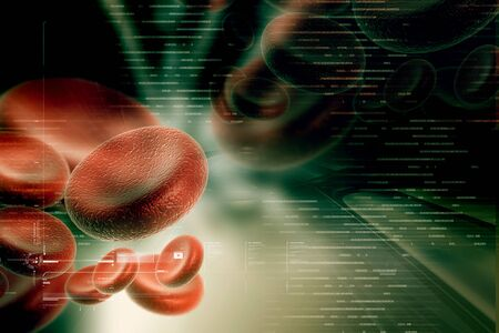 anemia: blood cells in digital design
