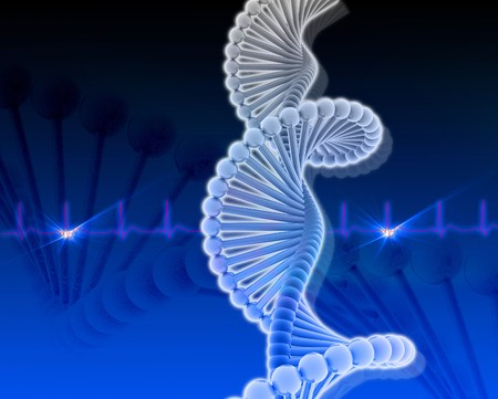 Dna in color background Stock Photo - 8068060