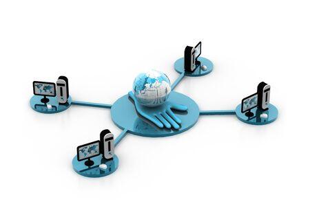 Global computer network Stock Photo - 8067549