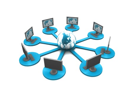 Global computer network concept Stock Photo - 8067593