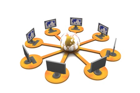 Global computer network concept Stock Photo - 8067906