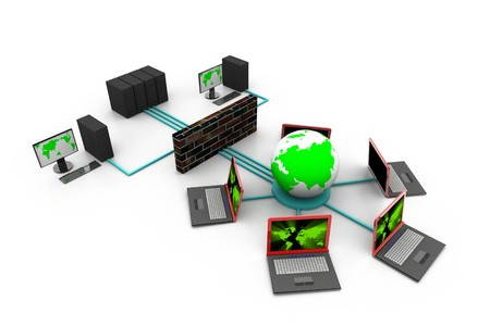 firewall icon: Global Network  Stock Photo