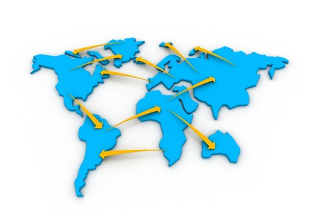 global industry: Trade networking. Business concept