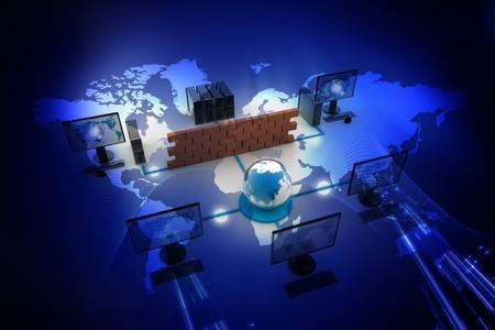 network connection plug: Global Computer network in digital design