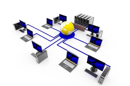 Network Firewall Protection Stock Photo - 8067994