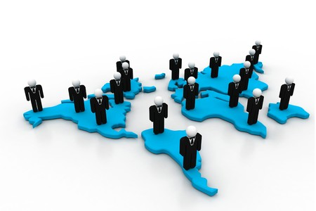 medium group of people: Business network  Stock Photo