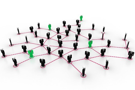 organised: Business network  Stock Photo