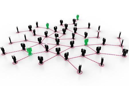 organization chart: Business network  Stock Photo