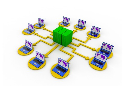 Computer network Stock Photo - 8067606