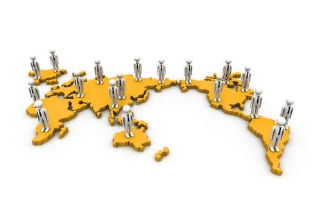 global problem: Global team  Stock Photo