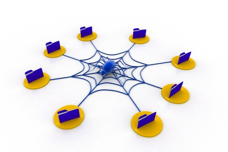 Spiral computer network  photo