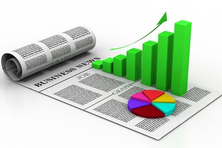 financial analysis: Business graph with diagram Stock Photo