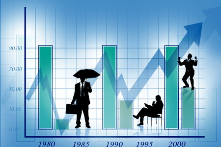Business growth graph- success -financial, benefits and business people  photo