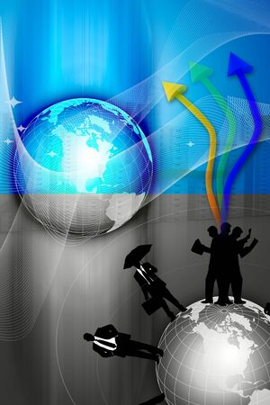 global economy: Different business concept  Stock Photo