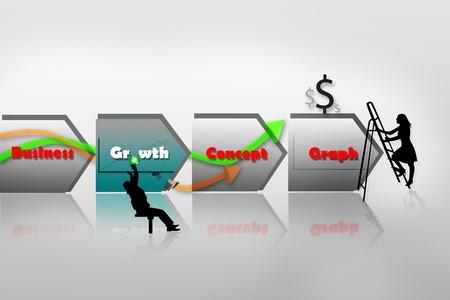 Business growth concept design  photo