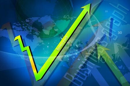 Business growth graph- success -financial, benefits   photo