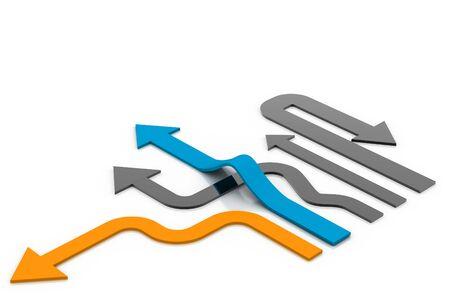 acute angle: Direcci�n de movimiento para el �xito.  Foto de archivo