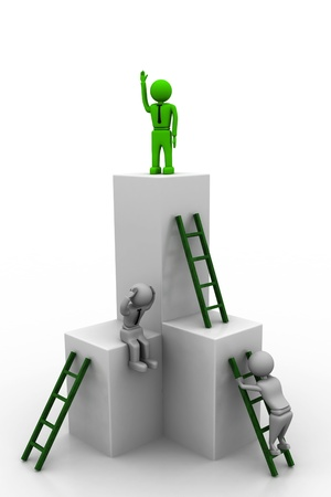 Ladder to success Stock Photo - 8268447