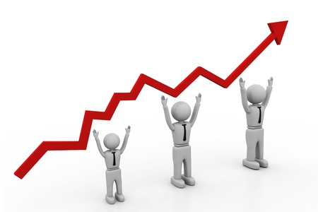 Growth chart Stock Photo - 8268330
