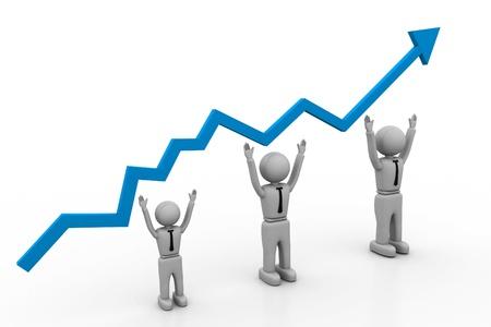 Growth chart Stock Photo - 8268357