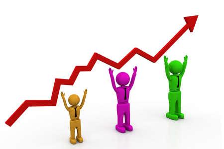 Growth chart Stock Photo - 8268354